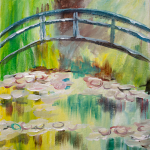Monet's Bridge Over a Pool of Water Lilies