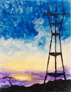The Impressionist Sutro Tower Sunset
