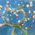 Van Gogh's Almond Tree Valentine's Day Edition