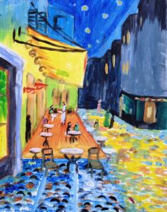 Van Gogh's Cafe Terrace At Night
