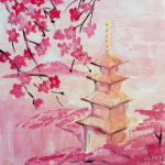Red Pagoda Cherry Blossom