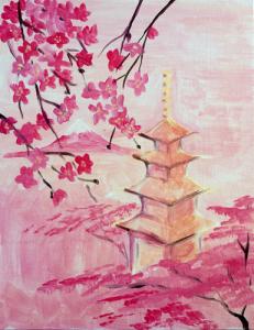 Red Pagoda Cherry Blossom